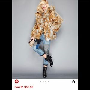 🤩✅FoxFur made in Greece GORGEOUS worn once